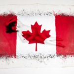 Canada Flag body painting