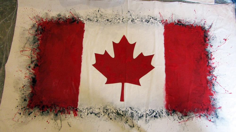Canada Flag body painting | marcdoiron.ca