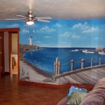 Fishing boats Mural