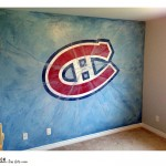 Hockey player Mural